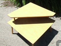 Heywood Wakefield Mid Century Modern Blond Corner Step Table Square in Westmont, Illinois
