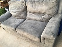 Grey couch in Fort Riley, Kansas