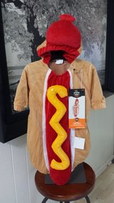 New with Tags! Hot Dog Costume 0-6 mos in Lockport, Illinois