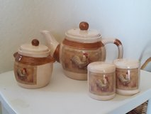 Rooster tea set in 29 Palms, California