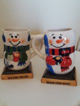 Christmas snowman mugs in 29 Palms, California