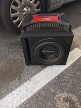 Q Power 12 subwoofer with 1200 wattage amp in Las Vegas, Nevada