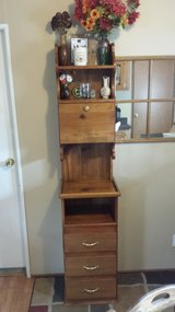 "Custom handmade  wooden cabinet/ hutch  (13""x16""x75"") in Fort Riley, Kansas"