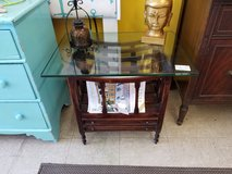 Magazine or Album 2 Drawer Stand with Glass in Camp Lejeune, North Carolina