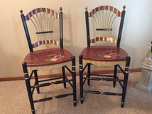 Custom Painted Counter Chairs in Naperville, Illinois