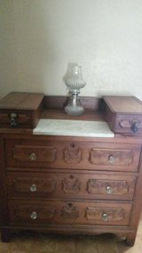 Nice piece of furniture..wood.marbel..an brass in Fort Leavenworth, Kansas