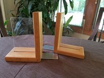 Solid oak photo bookends in Naperville, Illinois