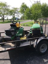 John Deere tractors; 345,LX255, LT166, X300, etc.carts, decks,wheel weights, etc. in Yorkville, Illinois