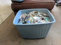 Bin of baseball, basketball and football cards plus other sports collectibles in Fairfield, California