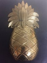Cast Iron Brass Plated Pineapple in 29 Palms, California