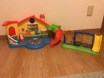 Fisher-Price Little People Place Musical Preschool Playset and Fisher-Price Little People Jump &... in Okinawa, Japan