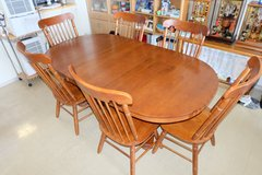 Oak Kitchen Table w/1 extention and 6 chairs in Okinawa, Japan