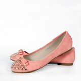 Gold studded pink summer flats in Ramstein, Germany