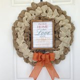 Blessed Home Burlap Wreath in Beaufort, South Carolina