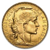 1899-1914 France Gold 20 Francs Rooster BU in Fort Polk, Louisiana