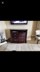 Wood TV stand in Baytown, Texas