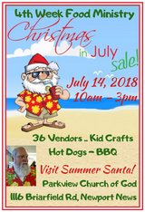 Christmas in July in Hampton, Virginia