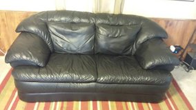 Leather Couch in Manhattan, Kansas