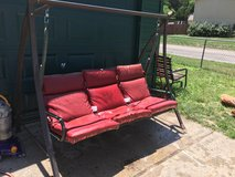 Large three seater swing in Fort Riley, Kansas