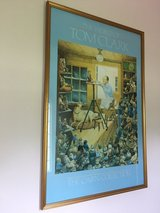 The World of Tom Clark - The Cairn Collection (Gnomes) Painting, Framed in Cherry Point, North Carolina