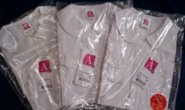**NWT** Girls School Uniform Shirts - Peter Pan Collar Long Sleeve White  - Size 7 in Chicago, Illinois