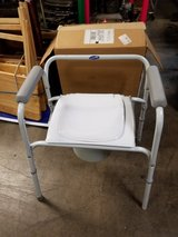 Invacare portable commode with interchangeable bucket/adapter & lid in Naperville, Illinois