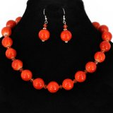 ORANGE NECKLACE SET- NEW in Pearland, Texas