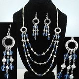 BLUE /SILVER TONE SET- NEW in Pearland, Texas