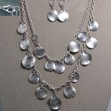 SILVER COIN NECKLACE SET- NEW in Pearland, Texas