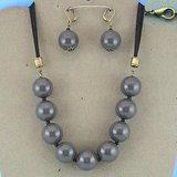 GREY BEADED ROPE SET- NEW in Bellaire, Texas