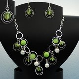 GREEN BEADED SET - NEW in Pearland, Texas