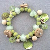 GREEN WOOD STRETCHY BRACELET- NEW in Pearland, Texas