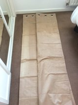 Faux suede curtains. in Lakenheath, UK