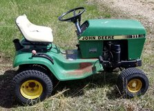 TWO JOHN DEERE RIDING MOWERS for PARTS OR REPAIR ONLY in Fort Leonard Wood, Missouri