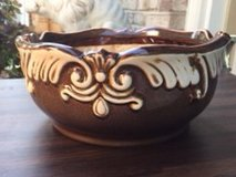 Beautiful! GLAZED BROWN POTTERY PLANTER in Wheaton, Illinois