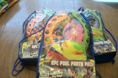 Three sets of 8 Piece Pool party packs  New in Byron, Georgia