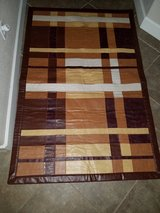 Genuine Leather Patchwork Area Rug in Travis AFB, California