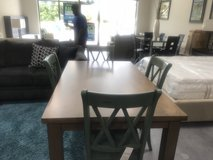 Solid Dining Table & 4 Chairs in Savannah, Georgia
