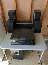 ONKYO HT-R550 Surround Sound Receiver and Speakers. (9 pieces) in Shorewood, Illinois