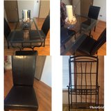 4 chairs /glass kitchen table with bakers rack in New Lenox, Illinois