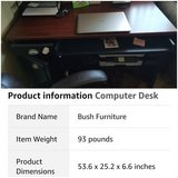 Cherry/Antique black computer desk in Vacaville, California