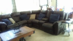 Dark brown reclining sectional in Fort Sam Houston, Texas