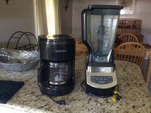 Ninja Professional 1000 watt blender and  Procter Silex 10 cup coffee maker. Both work good. in Fort Polk, Louisiana