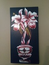 Black and white and red decor in Fort Campbell, Kentucky