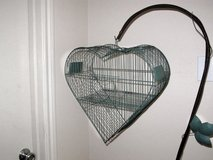 Decorative Heart-Shaped Bird Cage w/ Stand in Kingwood, Texas