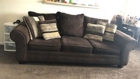 Brown Sofas set in Lackland AFB, Texas