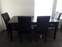 Dining Table and Chairs in Lackland AFB, Texas