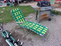 Green and Yellow Lounger in Fort Riley, Kansas