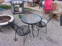 Three Piece Wrought Iron Table and Chairs Set in Fort Riley, Kansas
