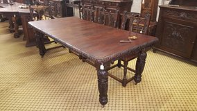 2 Leaf Carved Oak Table Others Available Free D... in Lakenheath, UK